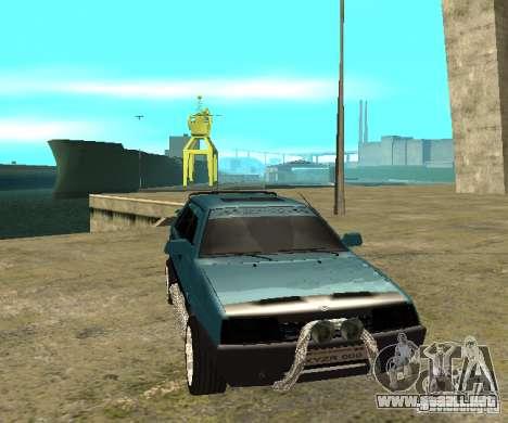 Melodía de sparco 21099 VAZ para GTA San Andreas vista posterior izquierda