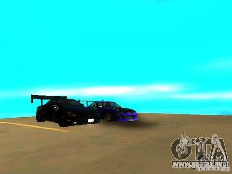 Lexus SC430 Daigo Saito v2 para GTA San Andreas vista hacia atrás
