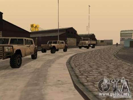 La base militar revivida en muelles v3.0 para GTA San Andreas