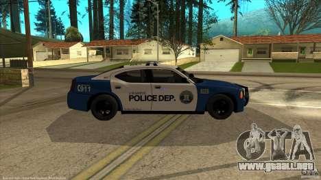Dodge Charger Los-Santos Police para la visión correcta GTA San Andreas