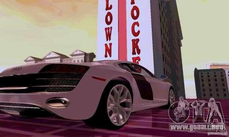 Audi R8 V10 5.2. FSI para la visión correcta GTA San Andreas