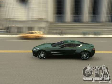 Aston Martin One 77 2012 para GTA 4 vista interior
