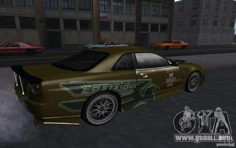 Nissan Skyline GT-R para GTA San Andreas left