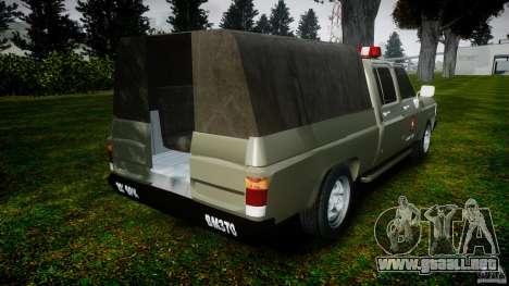 Chevrolet D20 Brigada Militar RS para GTA 4 Vista posterior izquierda