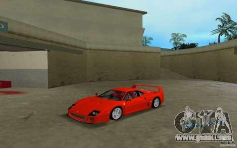 Ferrari F40 para GTA Vice City left