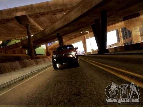 Mitsubishi L200 Stock para GTA San Andreas vista hacia atrás