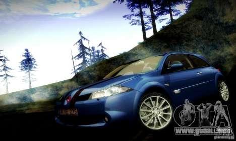 Renault Megane Coupe 2008 TR para vista lateral GTA San Andreas