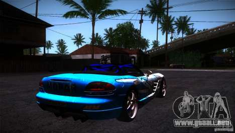 Dodge Viper Mopar Drift para la visión correcta GTA San Andreas