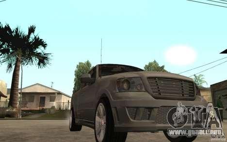 Saleen S331 Super Cab para GTA San Andreas vista hacia atrás