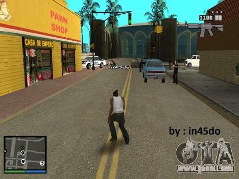 GTA V Interface for Samp para GTA San Andreas tercera pantalla