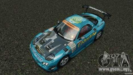 Mazda RX-7 RE-Amemiya v2 para GTA 4 vista desde abajo