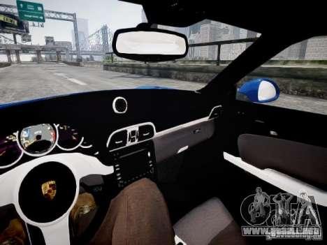 Porsche 911 Carrera S 2012 para GTA 4 vista hacia atrás