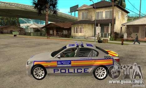 Metropolitan Police BMW 5 Series Saloon para GTA San Andreas left