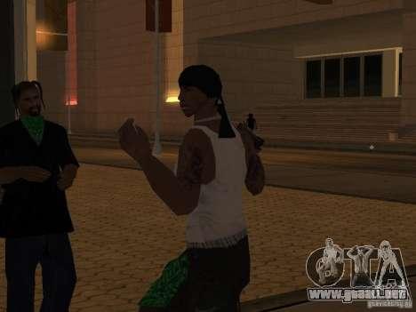 Reemplace todas las pieles Grove Street Families para GTA San Andreas séptima pantalla