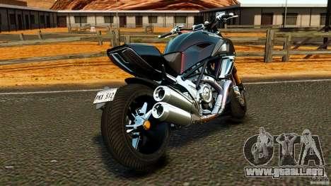 Ducati Diavel Carbon 2011 para GTA 4 Vista posterior izquierda