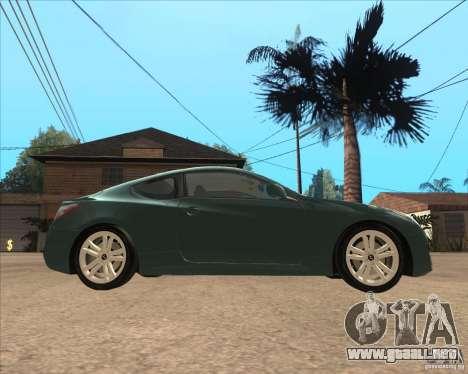 Hyundai Genesis Coupe para GTA San Andreas left