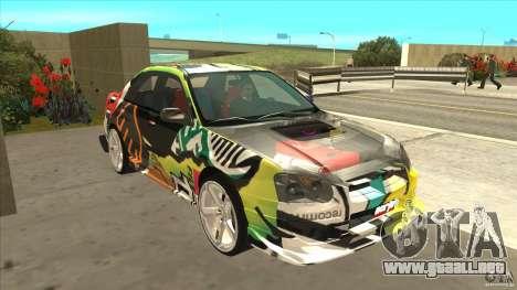 Subaru Impreza 2005 Mission Edition para GTA San Andreas vista hacia atrás