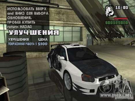 Subaru Impreza Wrx Sti 2002 para GTA San Andreas left