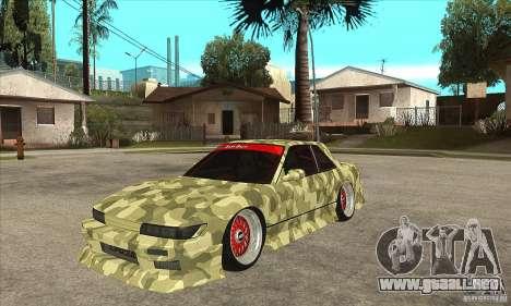 Nissan Silvia S13 Army Drift para GTA San Andreas