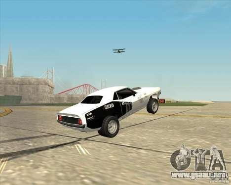 Plymouth Hemi Cuda Rogue para GTA San Andreas vista hacia atrás