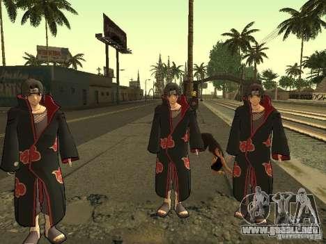 The Akatsuki gang para GTA San Andreas tercera pantalla