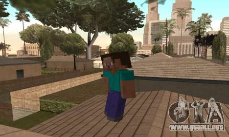 Steve de la piel de Minecraft juego para GTA San Andreas sucesivamente de pantalla