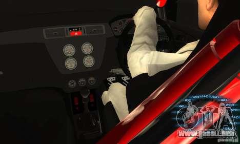 Mitsubishi Lancer IX APR para GTA San Andreas vista hacia atrás