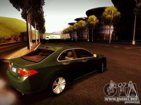 Acura TSX para GTA San Andreas left