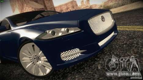 Jaguar XJ 2010 V1.0 para GTA San Andreas vista posterior izquierda