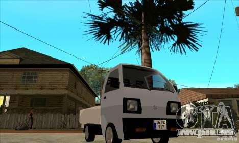 Suzuki Carry Kamyonet para GTA San Andreas vista hacia atrás