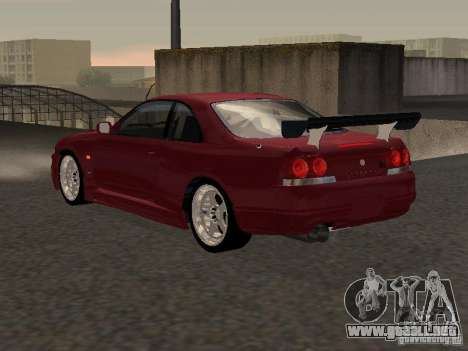 Nissan Skyline GT-R BCNR 33 para la visión correcta GTA San Andreas