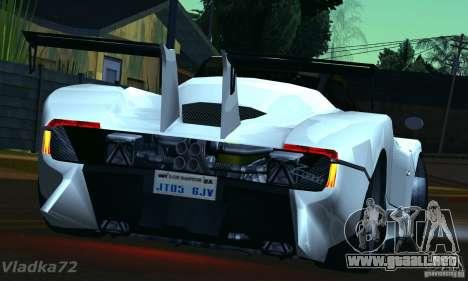 Pagani Zonda EX-R para GTA San Andreas left