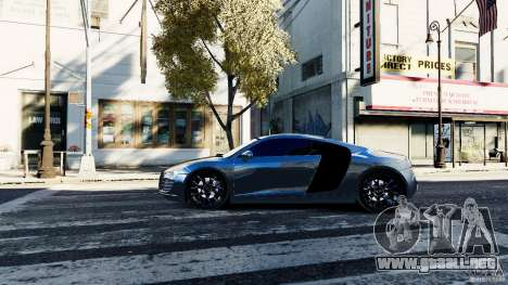 Audi R8 Spider 2011 para GTA 4 left