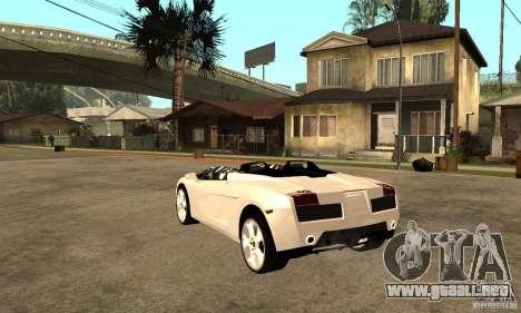 Lamborghini Concept S v2.0 para GTA San Andreas vista posterior izquierda