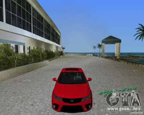 Kia Forte Coupe para GTA Vice City vista lateral izquierdo