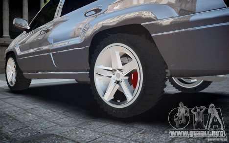 Jeep Grand Cheroke para GTA 4 vista desde abajo