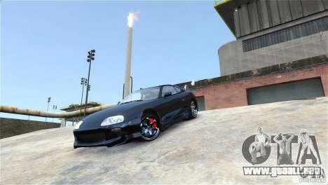Toyota Supra RZ 1998 v 2.0 para GTA 4 vista hacia atrás