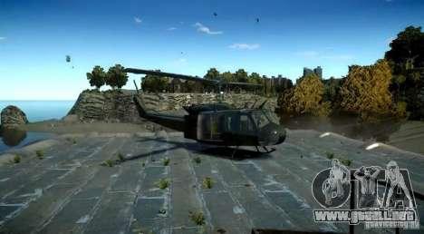 Bell UH-1D German Bundeswehr para GTA 4 Vista posterior izquierda