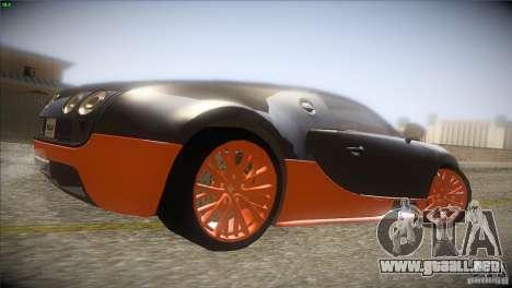 Bugatti Veyron Super Sport para GTA San Andreas vista hacia atrás