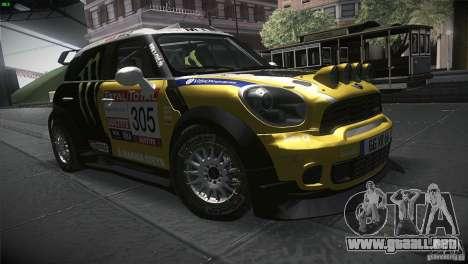 Mini Countryman WRC para GTA San Andreas vista hacia atrás