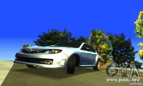 Subaru Impresa WRX STI 2008 para GTA San Andreas vista hacia atrás