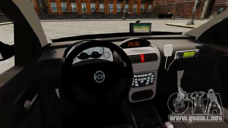 Chevrolet Corsa 2012 PMESP ELS para GTA 4 vista interior