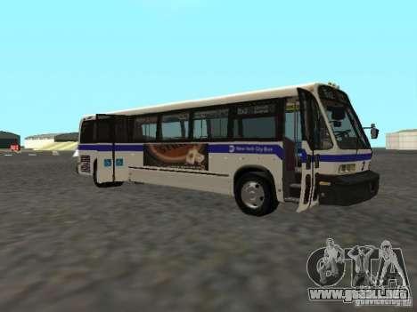 GMC RTS MTA New York City Bus para GTA San Andreas vista posterior izquierda