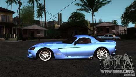Dodge Viper SRT10 Stock para GTA San Andreas left