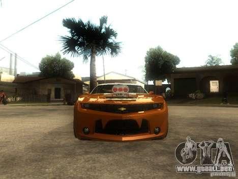 Chevrolet Camaro SS Dark Custom Tuning para la visión correcta GTA San Andreas