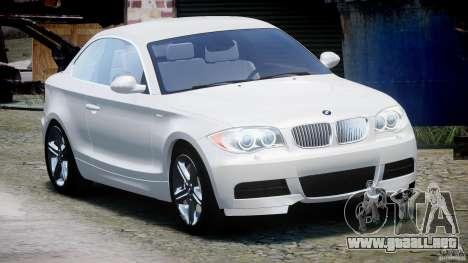 BMW 135i Coupe 2009 [Final] para GTA 4 vista hacia atrás