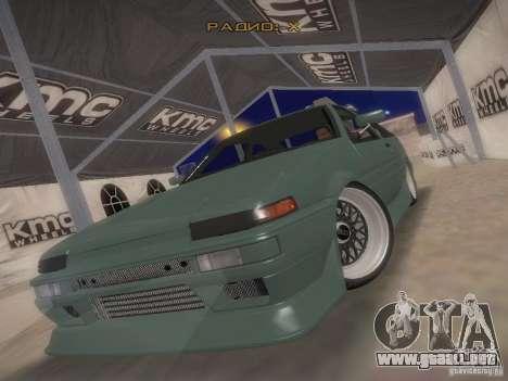 Toyota Sprinter Trueno AE86 para GTA San Andreas vista hacia atrás