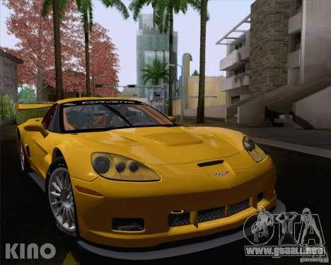 Chevrolet Corvette C6 Z06R GT3 v1.0.1 para GTA San Andreas vista hacia atrás