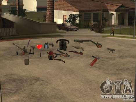 Armas para GTA San Andreas tercera pantalla