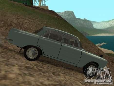 IZH 412 Moskvich para GTA San Andreas vista hacia atrás